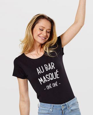 T-Shirt femme Au bar masqué