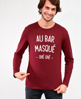 T-Shirt homme manches longues Au bar masqué