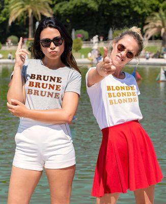 T-Shirt femme Brune Brune Brune