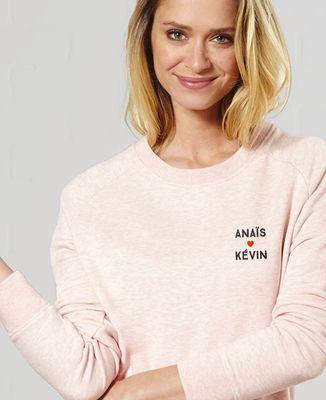 Sweatshirt femme Amour brodé personnalisé