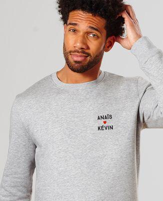 Sweatshirt homme Amour brodé personnalisé