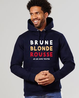 Hoodie homme Brune Blonde Rousse