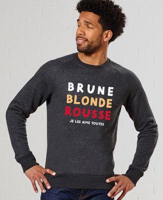 Sweatshirt homme Brune Blonde Rousse