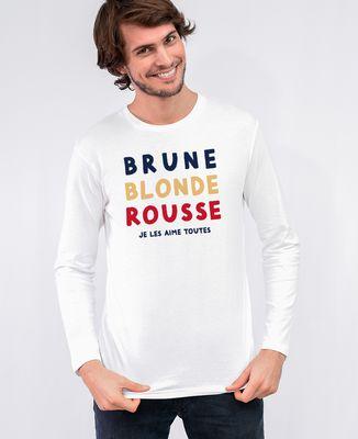 T-Shirt homme manches longues Brune Blonde Rousse