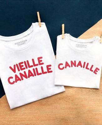 T-Shirt homme Vieille canaille (effet velours)