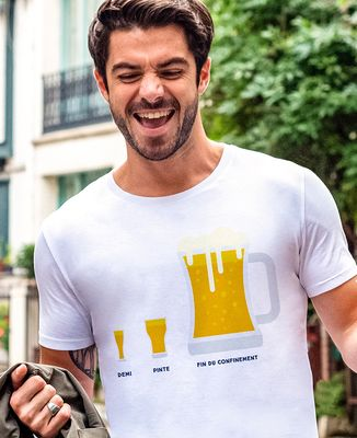 T-Shirt homme Bière de fin du confinement