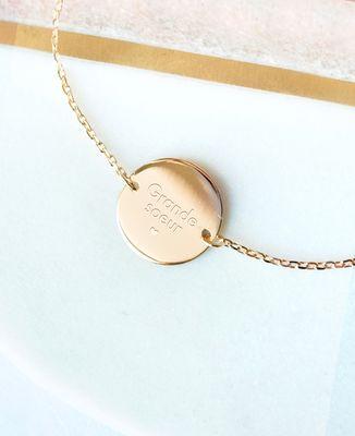 Bracelet Grande Soeur plaqué or
