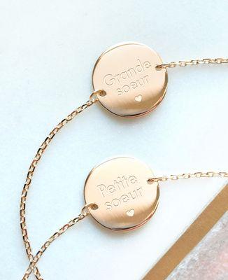 Bracelet Petite Soeur plaqué or