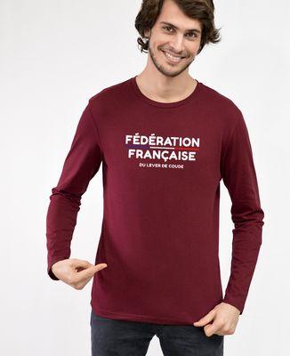T-Shirt homme manches longues Fédération Française du Lever de Coude