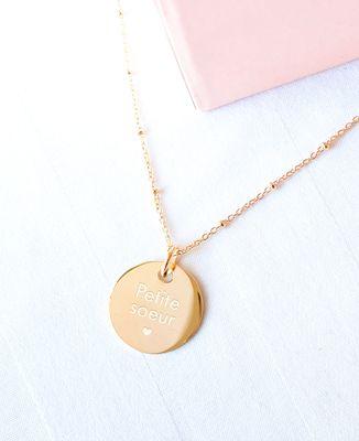 Collier Petite Soeur plaqué or