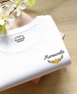 T-Shirt femme Mamounette (brodé)