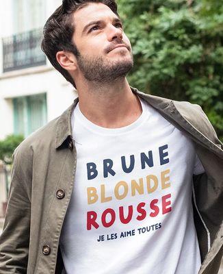 T-Shirt homme Brune Blonde Rousse