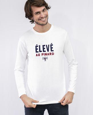 T-Shirt homme manches longues Élevé au pinard