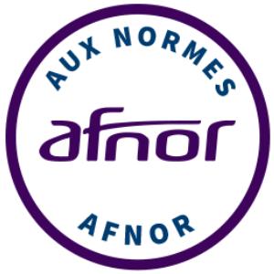 Certification - Produit fabriqué en suivant les normes AFNOR