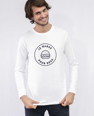 T-Shirt homme manches longues Je mange pour deux