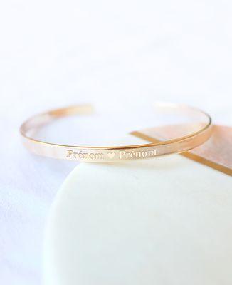 Bracelet Coeur et Prénoms personnalisés