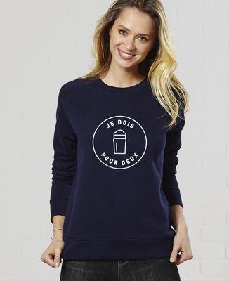 Sweatshirt femme Je bois pour deux