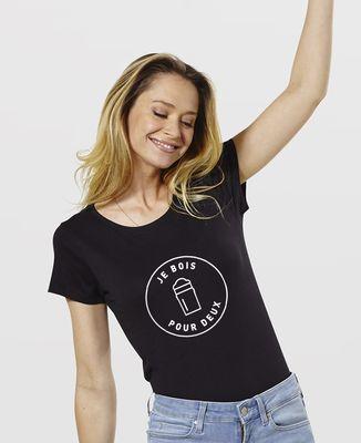 T-Shirt femme Je bois pour deux