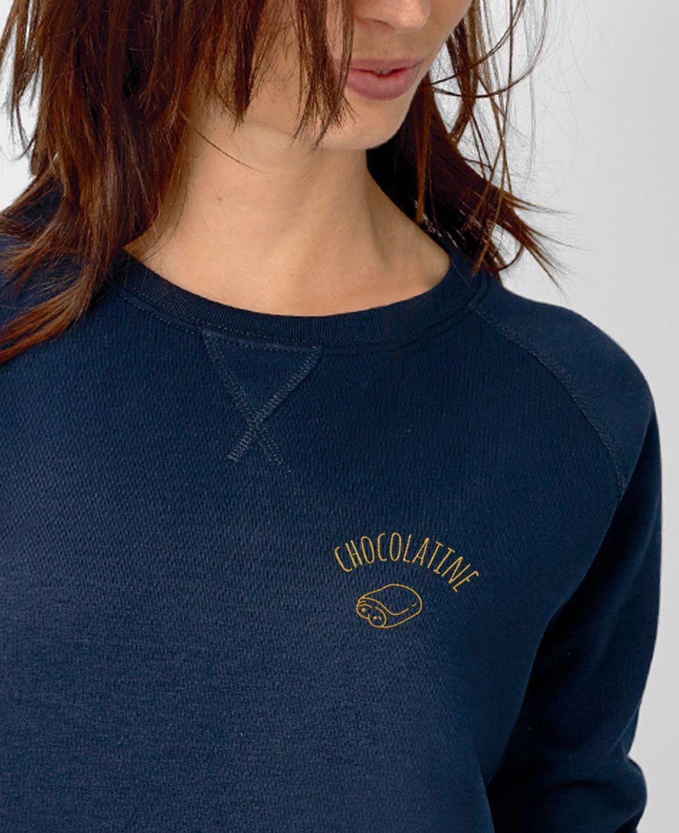 Sweatshirt femme Chocolatine brodé
