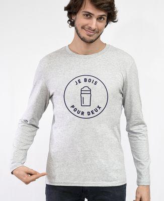 T-Shirt homme manches longues Je bois pour deux