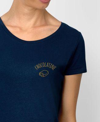 T-Shirt femme Chocolatine brodé