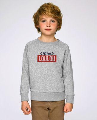 Sweatshirt enfant Surnom encadré personnalisé