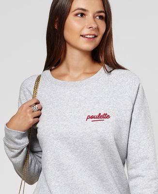 Sweatshirt femme Poulette (brodé)