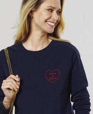 Sweatshirt femme Maman de personnalisé (brodé)