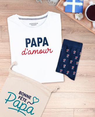 Coffret Papa d'amour + chaussettes verres de vin