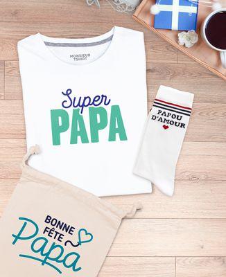 Coffret Super papa II + chaussettes papou d'amour