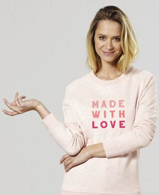 Sweatshirt femme Made with love