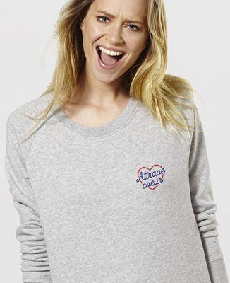 Sweatshirt femme Attrape coeur (brodé)