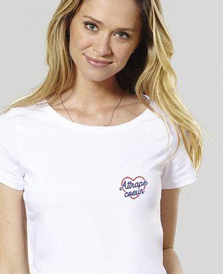 T-Shirt femme Attrape coeur (brodé)