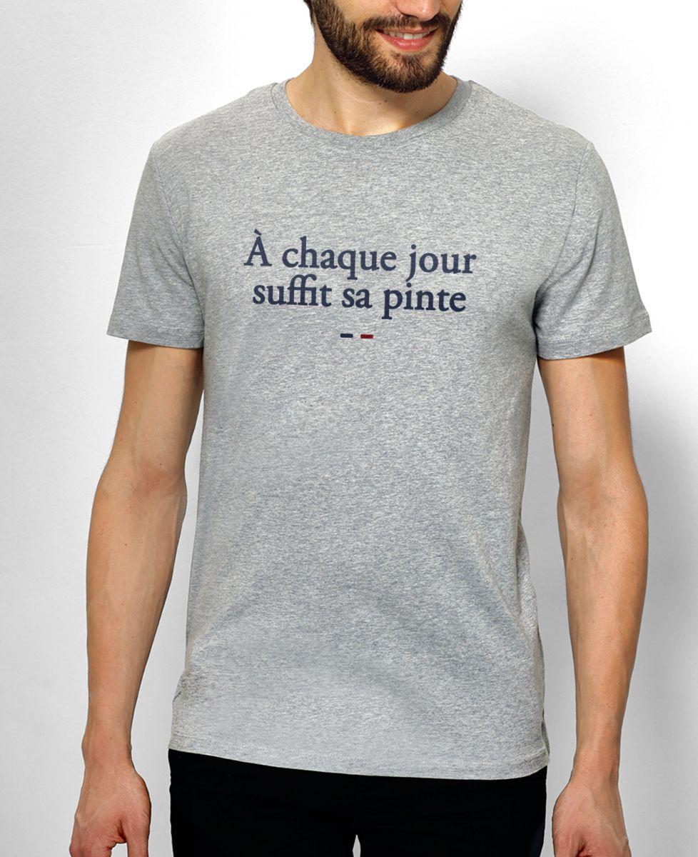 b69b32434f54d T-shirt À chaque jour suffit sa pinte | Monsieur TSHIRT | Mode Homme