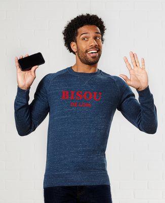 Sweatshirt homme Bisou de loin (effet velours)