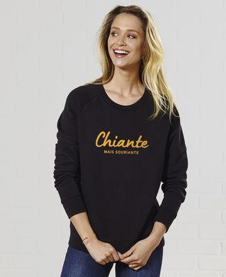 Sweatshirt femme Chiante mais souriante