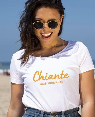T-Shirt femme Chiante mais souriante