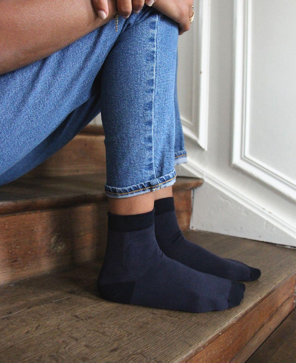 Chaussettes femme Picto brodé personnalisé