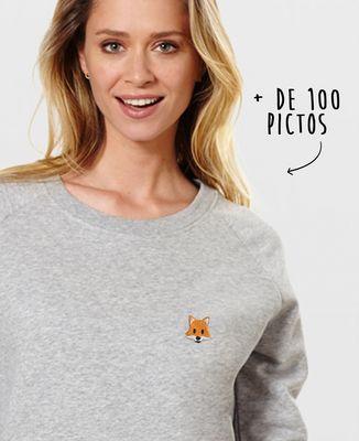 Sweatshirt femme Picto brodé personnalisé