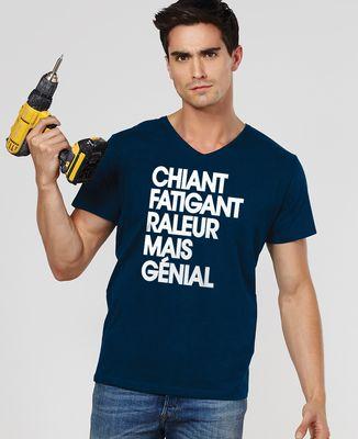 T-Shirt homme Chiant fatiguant râleur mais génial