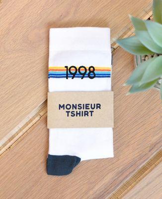 Chaussettes homme Année brodée personnalisée