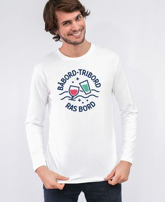 T-Shirt homme manches longues Ras bord
