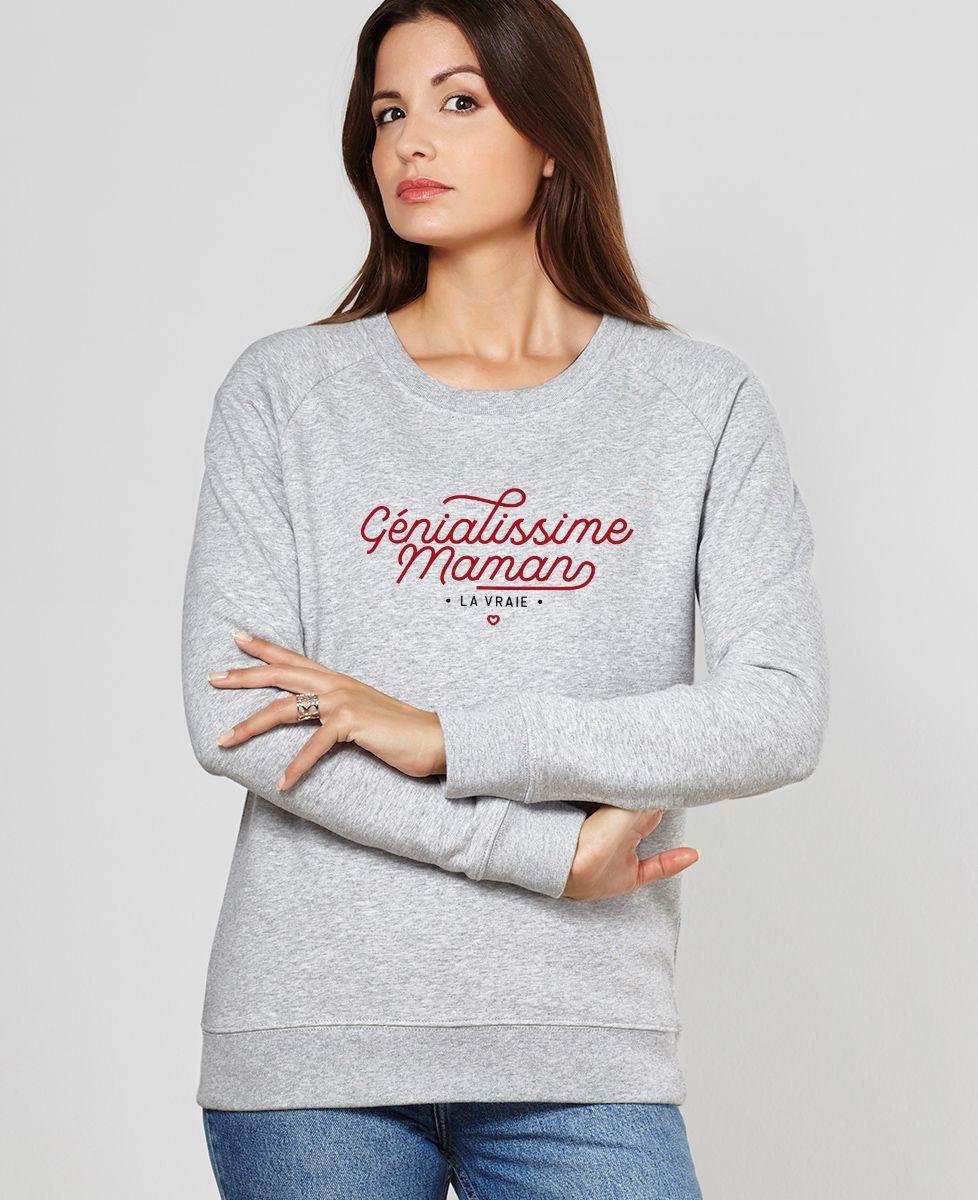 Sweatshirt femme Génialissime maman
