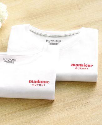 T-Shirt femme Madame brodé personnalisé