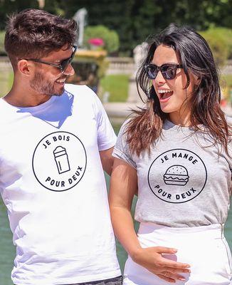 T-Shirt femme Je mange pour deux
