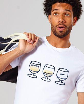 T-Shirt homme Optimiste Pessimiste Moi