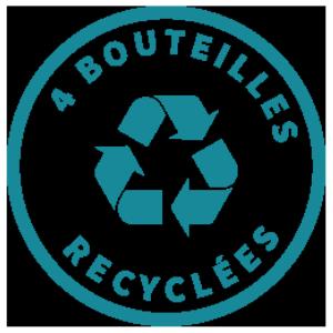 Composition - 50% Polyester (4 bouteilles plastique recyclées par t-shirt)