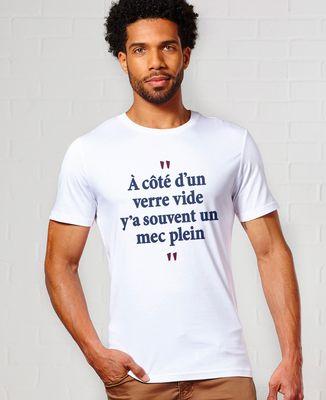T-Shirt homme A côté d'un verre vide