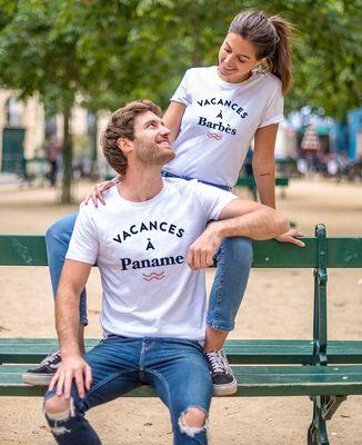 T-Shirt homme Vacances personnalisé
