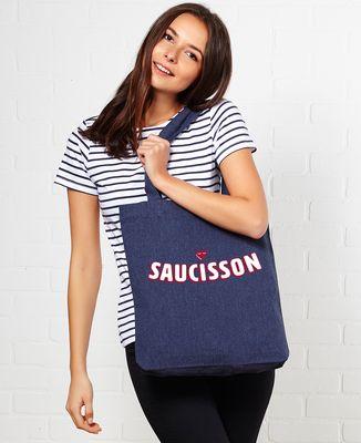 Tote bag Saucisson coeur